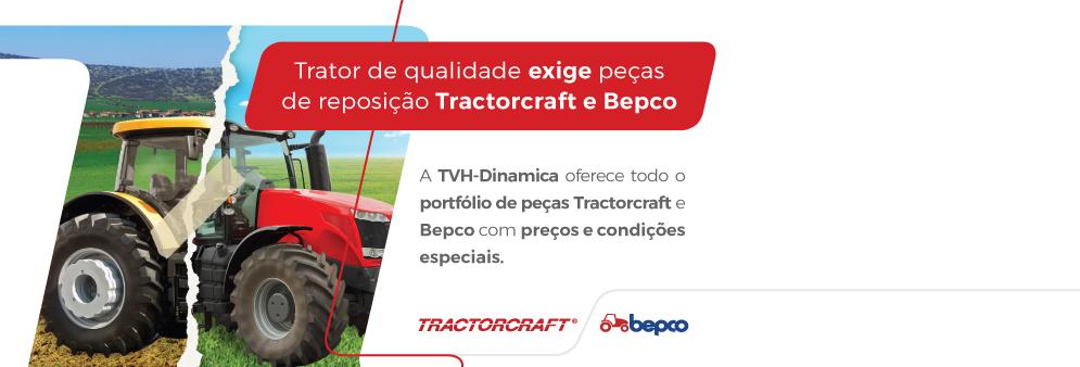 Trator de qualidade exige peças de reposição Tractorcraft e Bepco